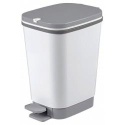 Odpadkový koš Curver Chic Bin 35l, bílošedá