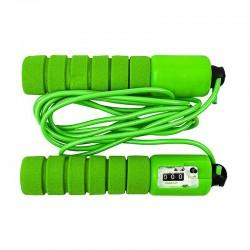 Dětské švihadlo s počítadlem přeskoků - 280cm, zelená