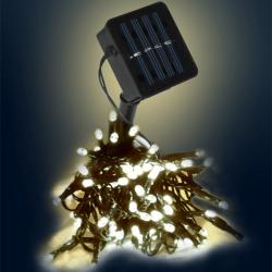 Světelný solární LED řetěz Solar - 50 LED, 5m