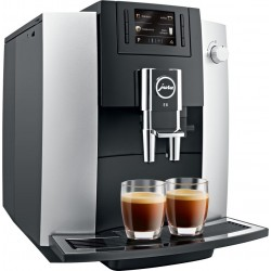 Automatický kávovar Jura E6, 1450 W,  stříbrná