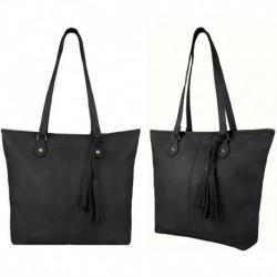 Černá kabelka na rameno se zdobením