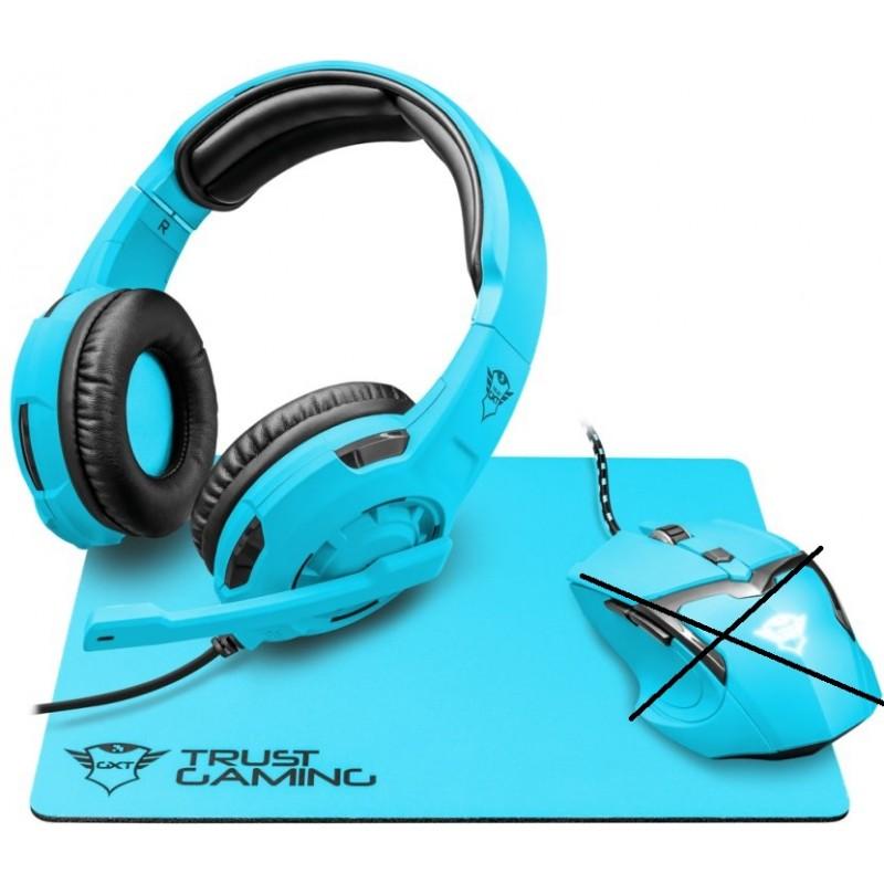 Herní set Trust SPECTRA, GXT 794SB, modrá - Neobsahuje optickou myš