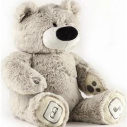 Plyšový medvídek Teddy - TM Toys, šedá