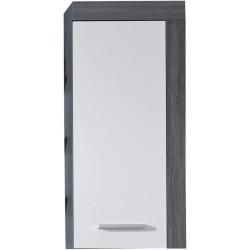 Závěsná skříňka Furnline, 36 x 79 x 23 cm, šedobílá