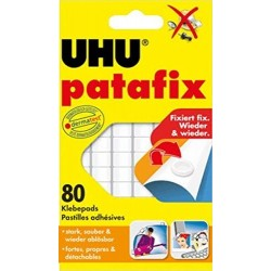 Samolepící podložky UHU Patafix 80ks, bílá