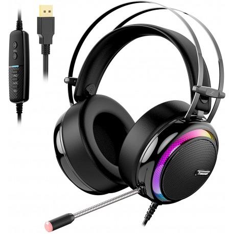 Herní sluchátka s mikrofonem Tronsmart GLARY LED 7.1 USB