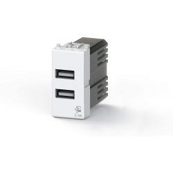 Nástěnná USB zásuvka USB 4Box, 2 x USB výstup - 2,4 A