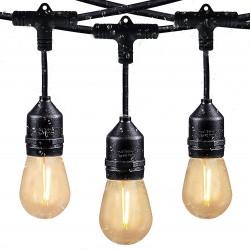 Závěsná LED světla Svater S14 LED String Lights 2x15m, černá