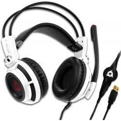 Herní sluchátka Klim Puma K777, bílá