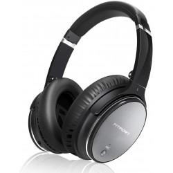 Bezdrátová sluchátka Fitfort L1 Pro s ANC (aktivní potlačení zvuku), stříbrno-černá