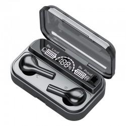 Bezdrátová sluchátka s nabíjecím pouzdrem TWS BTH-278, černá