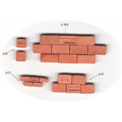 Cihly pro modelářství Alea Mosaik - 4 x různý rozměr (16x8x4 mm 12x8x4 mm 8x8x4 mm 4x8x4)