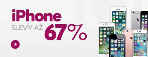 iPhone se slevami až 67 %!
